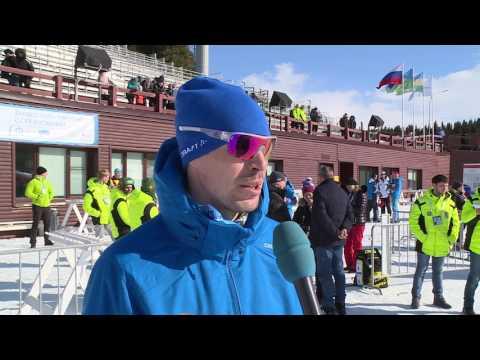 Сергей Устюгов после победы в скиатлоне на чемпионате России