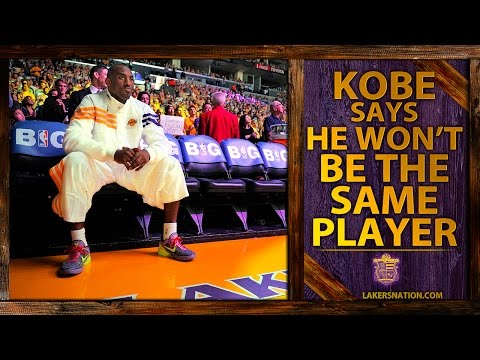 lakers - Lakers star Kobe Bryant admits he won't be the same player, but he's playing till there's