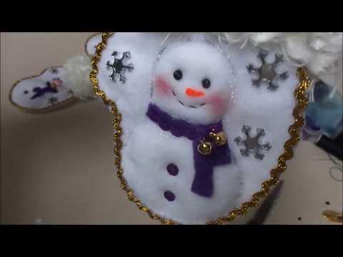 feltro - porta posate natalizio
