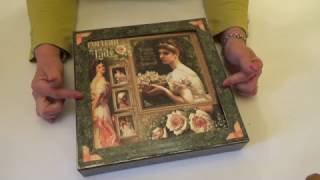 """Hi everyone, do you have a special event that you'd like to capture in a keepsake album. Maybe a wedding, anniversary, heritage photos or trip. .  This is the Portrait of a Lady version of my 11"""" presentation album and case.  The 12"""" shadow box, 11"""" album cover and spine set,  and the full project kit including the PDF Tutorial for the project are all available from my website if you'd like to make the project yourself. All links  below: Portrait of a Lady Presentation Album and Case Kit http://www.mycreativespirit.co.uk/portrait-of-a-lady-11-presentation-album-and-case-790-p.aspPortrait of a Lady Presentation Album and Case PDF Tutorial (Please note the kits that go with this PDF Tutorial are sold separately - see links below)  http://www.mycreativespirit.co.uk/portrait-of-a-lady-11-presentation-album-and-case-graphic-45-1102-p.asp11"""" Album Cover Set http://www.mycreativespirit.co.uk/11-album-cover-and-spine-set-1089-p.asp12"""" Shadow Box http://www.mycreativespirit.co.uk/12-x-12-shadow-box-1101-p.aspBlack Construction Tape http://www.mycreativespirit.co.uk/construction-tape-534-p.asp"""