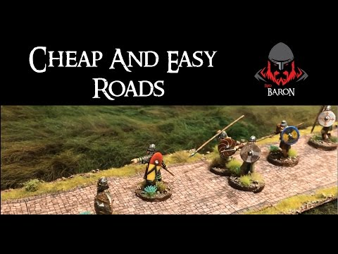 Making Cobblestone  Roads for Wargaming
