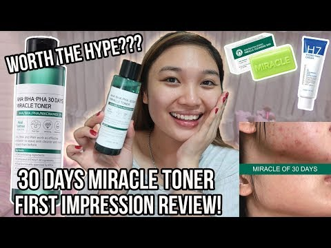 30 DAYS MIRACLE TONER FIRST IMPRESSION REVIEW! ++ GIVEAWAY! (CLOSED)