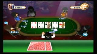 Wii - WiiWare - Texas Hold'Em Poker WIFI Online / Como Perder Todo XD!