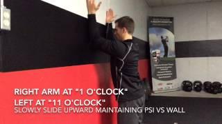 Scapular Forearm Wall Slides
