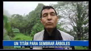 Un Titán Caracol lidera reforestación de cerro en Yopal