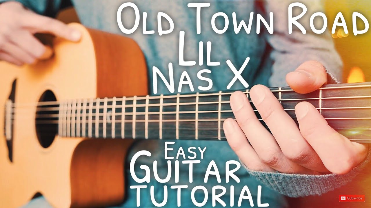 Old Town Road Lil Nas X Guitar Tutorial // Old Town Road Guitar // Guitar Lesson #653