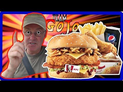 KFC Kentucky Burger / Sandwich Box Meal (Fill Ups) Taste Test