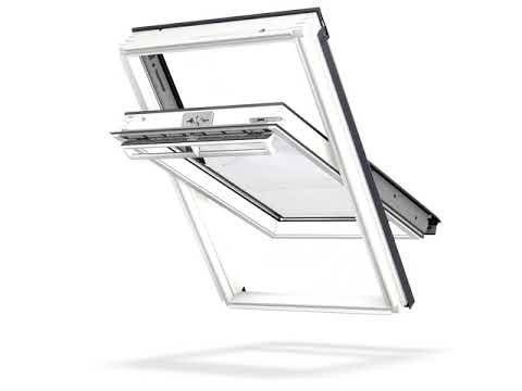 Video of VELUX Centre Pivot White Laminated Roof Window GGL PK06 2070 940mm x 1180mm
