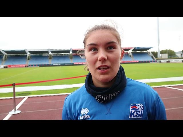 Anna Rakel frétti af landsliðsvalinu á Fótbolta.net