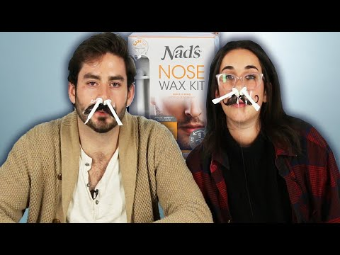 People Try Painless Nose Hair Waxing by BuzzFeedVideo using Nad's Nose Wax for Men and Women