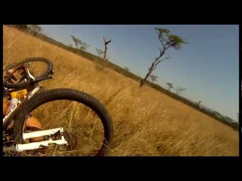 Mountain Biker Vs Red Hartebees