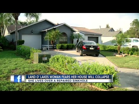 Land O' Lakes woman fears her house will collapse