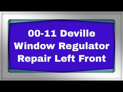 Deville window regulator