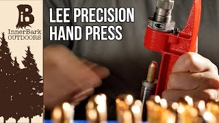 For a while I was looking for a way to keep reloading without having to use my large press that was in storage, and then I stumbled onto something magnificent. Enter The Lee Precision Breech Lock Hand Press. It's small, but it can reload like a champ as long as you can muscle it. Pistol brass was no problem at all, and machine gun fired 308 through a Full Length die was a non-issue as well.Find it on amazon for ~35$  https://www.amazon.com/Lee-Precision-Cast-Reloading-Press/dp/B000NOQIFO/ref=sr_1_1?ie=UTF8&qid=1492115890&sr=8-1&keywords=lee+hand+pressDisclaimer: Reload at your own risk. Just like shooting, reloading ammo has it's inherent risks and you should receive proper training before you reload ammo.Official website, blog, and online store.www.inner-bark.comJoin me on social media to be up to date on the latest projects, news, and giveaways.Facebook- www.facebook.com/innerbarkTwitter- www.twitter.com/innerbarkPintrest- www.pintrest.com/innerbarkInstagram- www.Instagram.com/innerbark