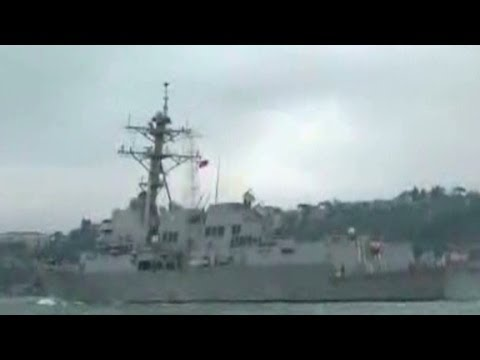 U.S. Warship crossing into Black Sea