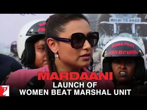 Rani Mukerji - At the Launch of Women Beat Marshal...