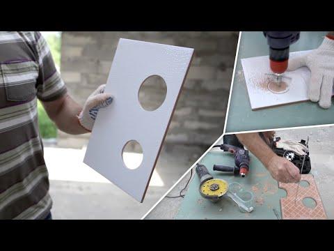 Как сделать отверстия в керамической плитке