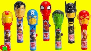 Video SUPERHERO Lollipop Ups Candy Dispensers and Surprises MP3, 3GP, MP4, WEBM, AVI, FLV Desember 2018