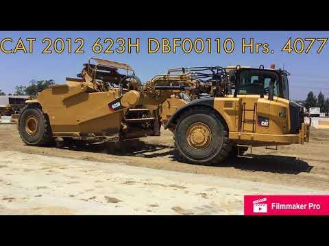 CATERPILLAR WHEEL TRACTOR SCRAPERS 623H equipment video S3D2H5UNKAQ