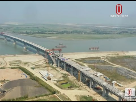 Padma Bridge will be completed in 2022 due to Corona & floods(18-09-20) Courtesy:IndependentTV