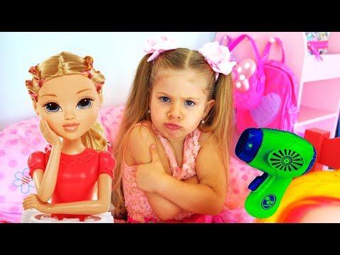 Diana and Funny Stories With Toys - Compilation video