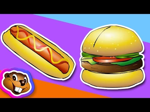 Learn Junk Food Names (Clip) - ESL School Learning Video