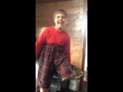 Weirdo kid doing weird dance