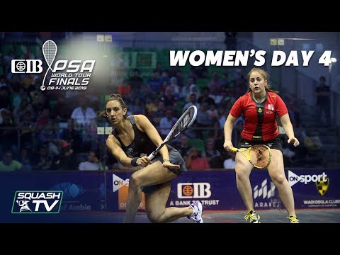 Squash: CIB PSA World Tour Finals 2018/19 - Women's Day 4 Roundup