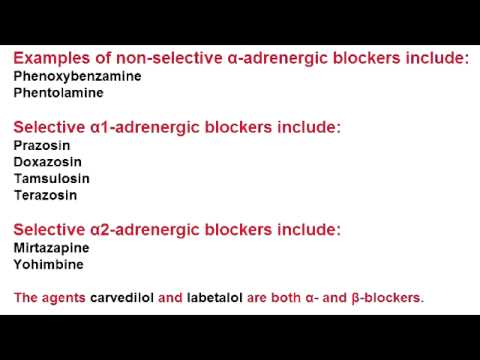 Alpha Blockers - Nonselective - Phenoxybenzamine & Phentolamine
