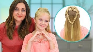 How to Create a MERMAID HEART Braid | 2019 Valentine's Day Hairstyles by Cute Girls Hairstyles