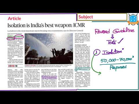 Telugu (23-03-2020) Current Affairs The Hindu News Analysis | Mana Laex Mana Kosam