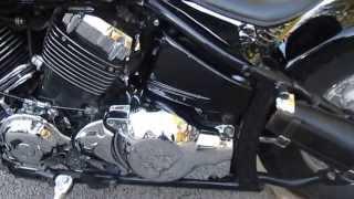 8. 2002 Yamaha VSTAR 650 Custom Bobber Walk Around Start and Ride