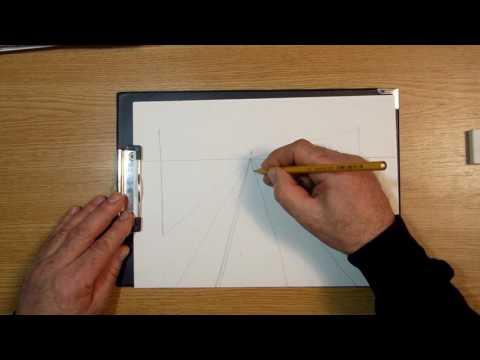 Линейная перспектива. Урок 75 Linear perspective.