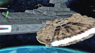 ✔ Star Wars Battlefront 2 Mods - Battle of Endor - Space - Millennium Falcon