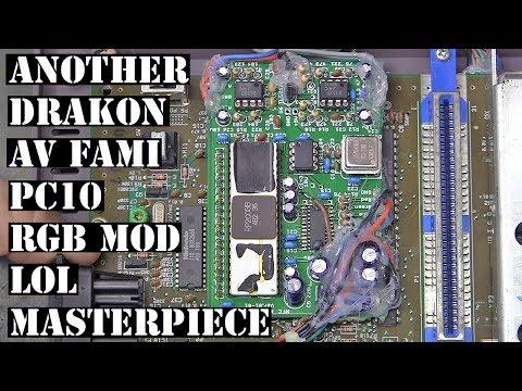 Another Drakon modded AV Famicom Nintendo NES HVC-101