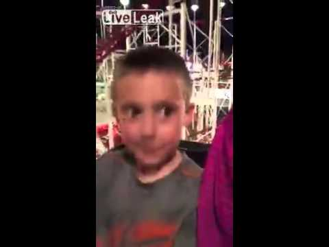 Father Saves His Son From Slipping Out Of Roller Coaster