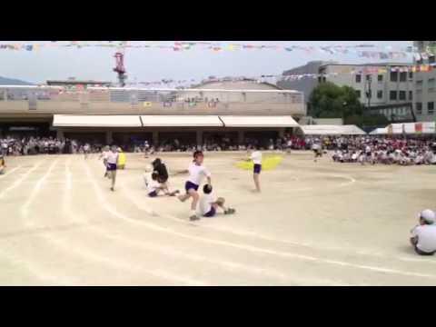 組リレー 青組 第一走者 アウトコース 依央太