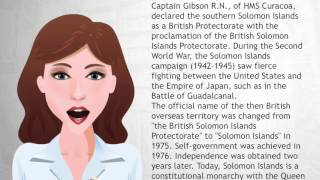 Solomon Islands is a sovereign country consisting of a large number of islands in Oceania lying to the east of Papua New Guinea and northwest of Vanuatu and ...