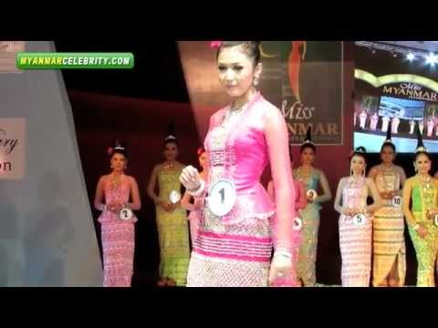 Miss Myanmar 2012 Beauty Contest in Yangon, Myanmar