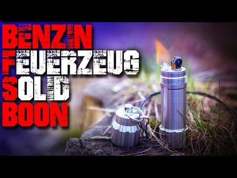 Benzinfeuerzeug SolidBoon - Review Test - Outdoor Ausrüstung Gear Feuerzeug Feuer deutsch