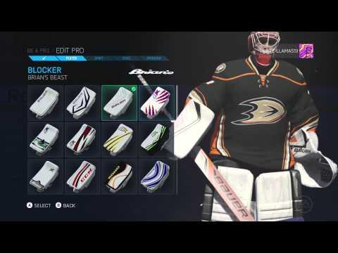 NHL 15 Be A Pro – Goalie Zane Hill [Episode 1 – Creation]