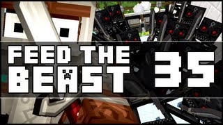 Minecraft Feed The Beast - Episode 35: Wither Skeleton Farm!