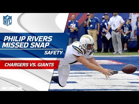 Video: Philip Rivers Misses the Snap & New York Scores a Safety! | Chargers vs. Giants | NFL Wk 5
