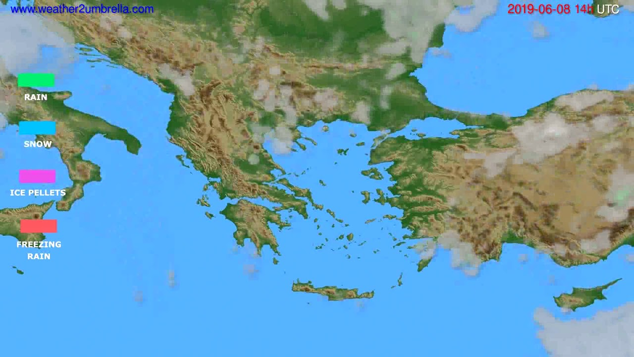 Precipitation forecast Greece // modelrun: 00h UTC 2019-06-06