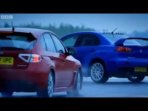 top - Jeremy Clarkson takes us through the new versions of the Mitsubishi Evo and the Subaru Impreza. Both are complicated, both Japanese, both reach 155mph, so ho...