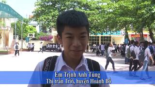 Hoành Bồ kết thúc kỳ thi tuyển sinh THPT