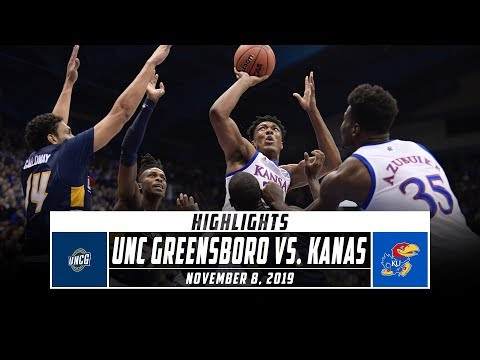 UNC Greensboro vs. No. 3 Kansas Basketball Highlights (2019-20) | Stadium