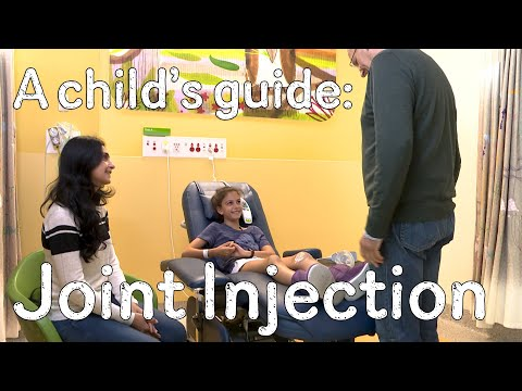 A child's guide to hospital: Joint Injection