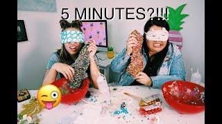 5 minute blindfolded slime challenge with Karina Garcia !!