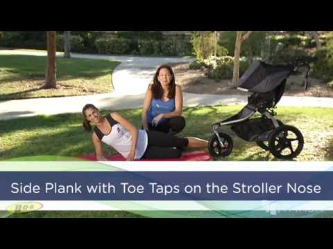 BOB & FIT4MOM Stroller Exercises - Side Planks with Toe Taps